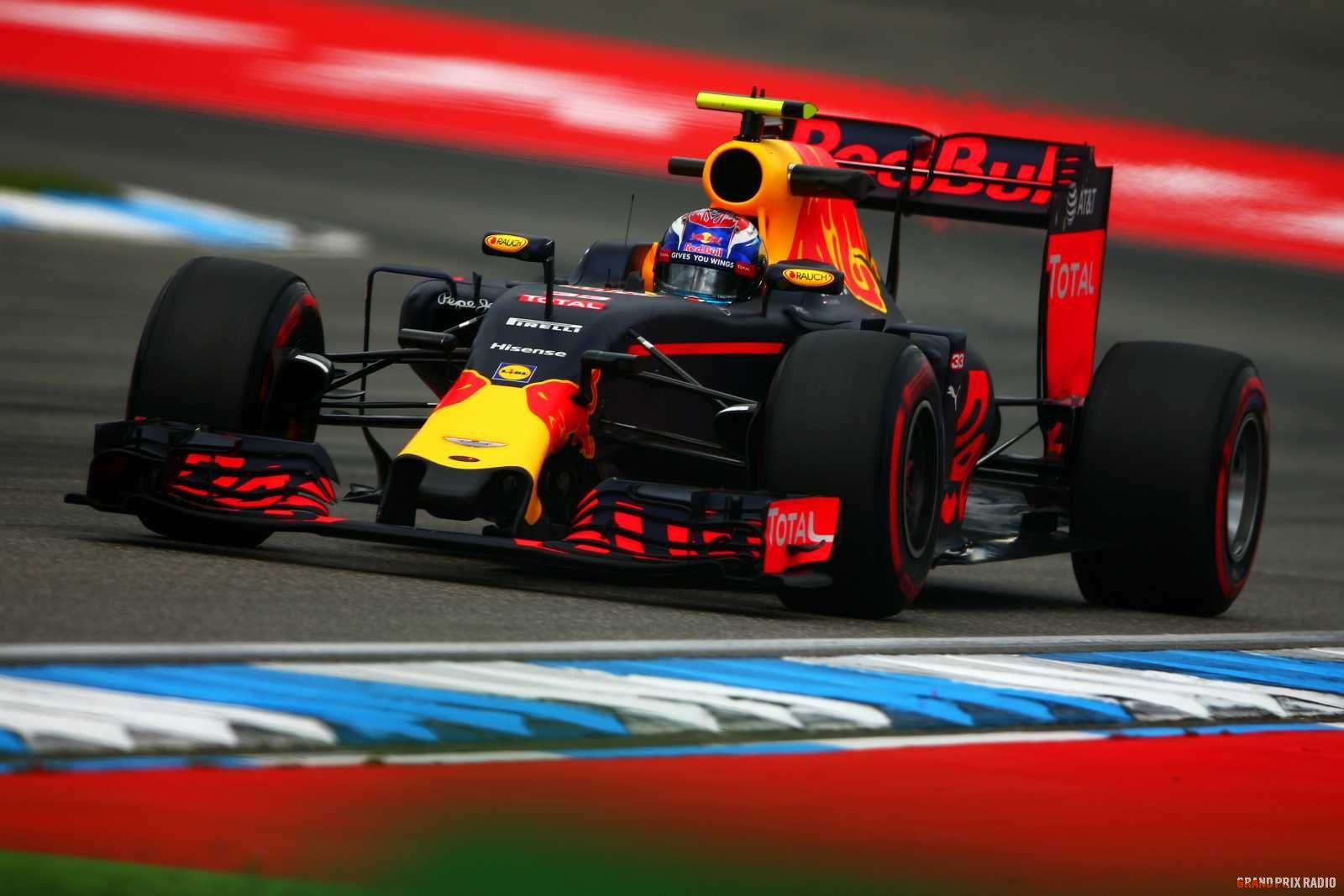 Max Verstappen wordt derde in Duitsland