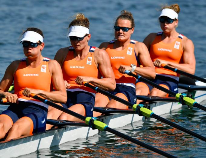 Olympisch zilver voor vrouwen dubbel-vier