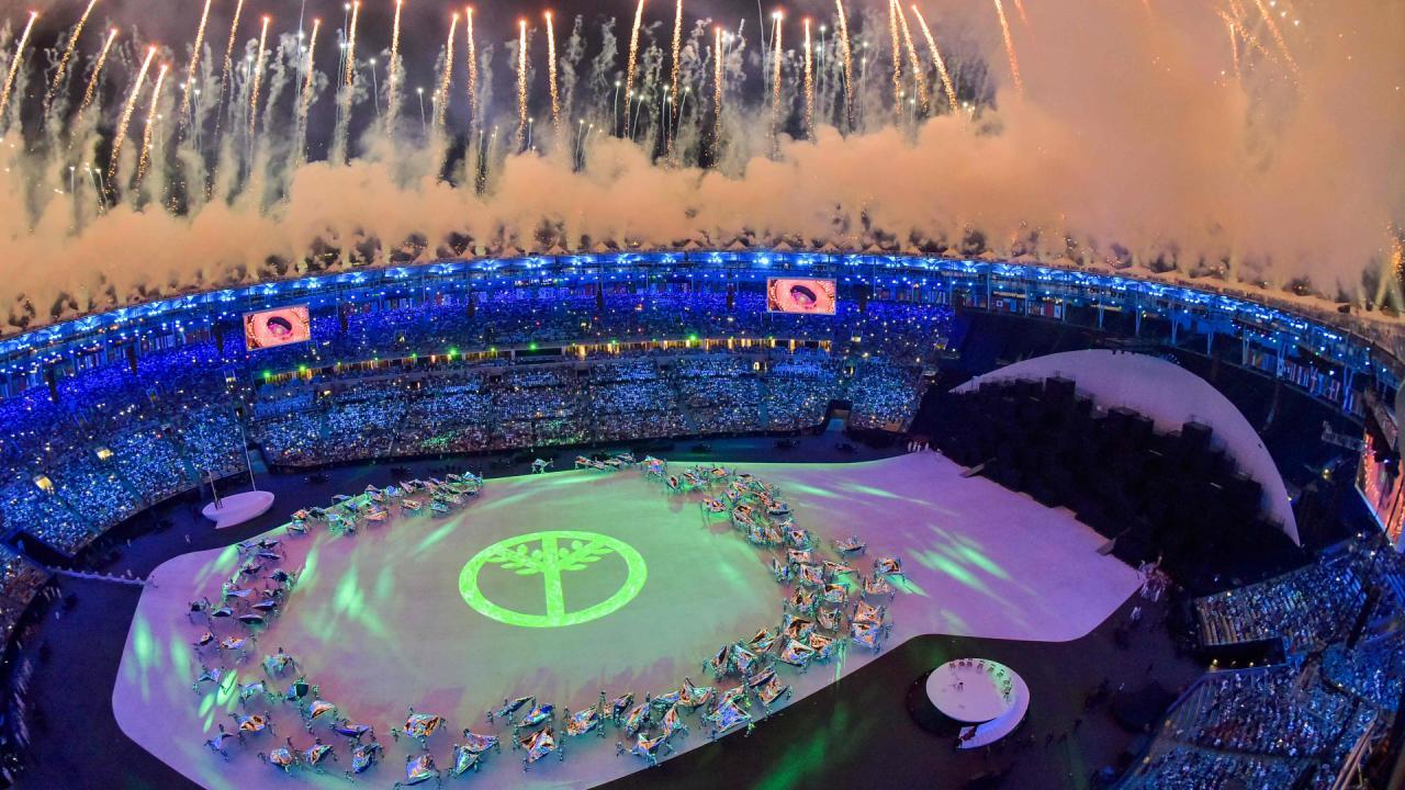 Openingsceremonie Olympische Spelen 2016 (6)