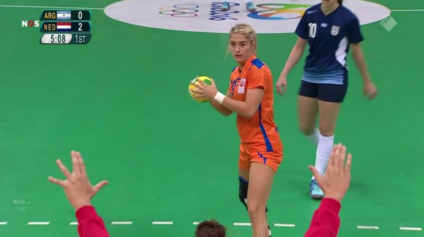 Overwinning Nederland handbal (1)