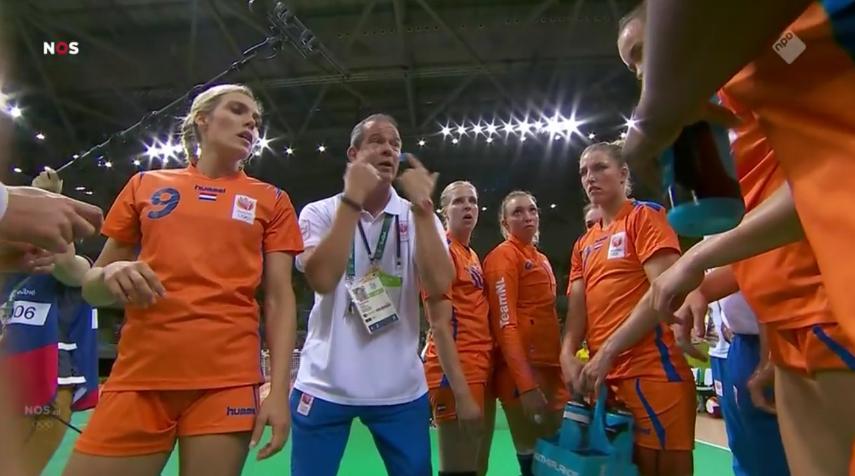Overwinning Nederland handbal (2)
