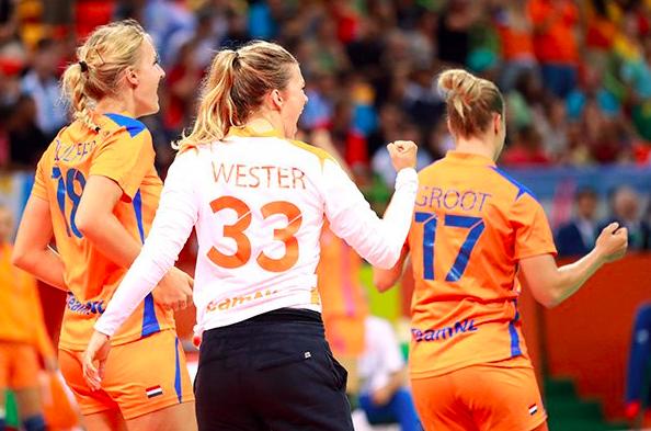 Overwinning Nederland handbal (4)