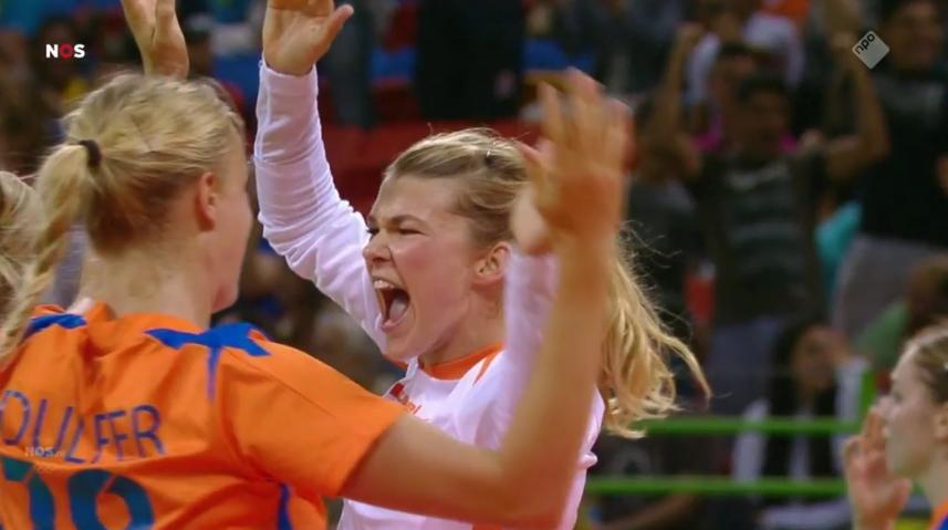Overwinning Nederland handbal (5)