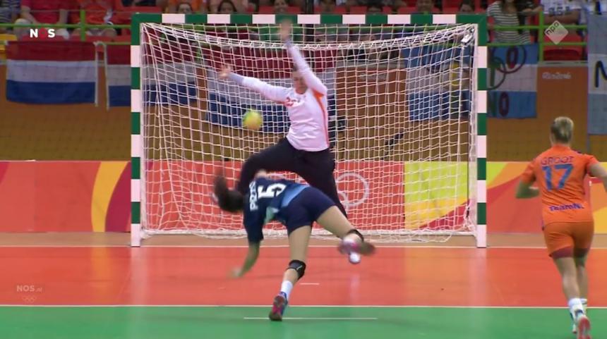 Overwinning Nederland handbal (6)