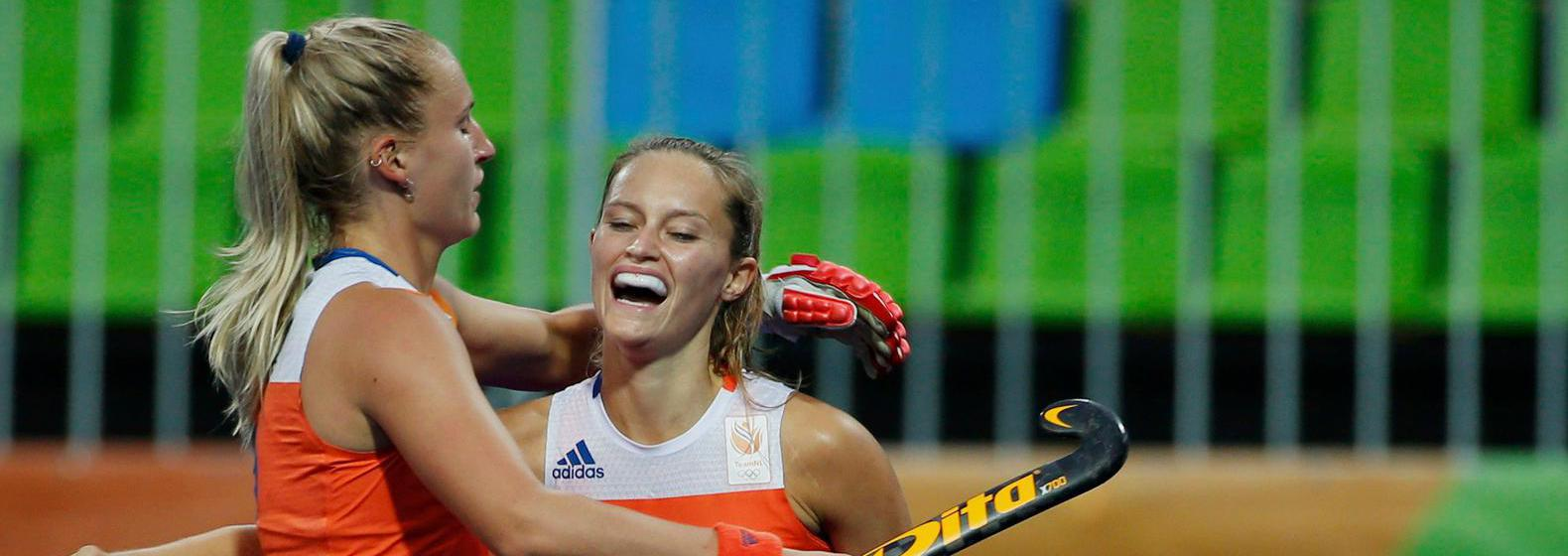 Tweede overwinning Nederlandse hockeydames