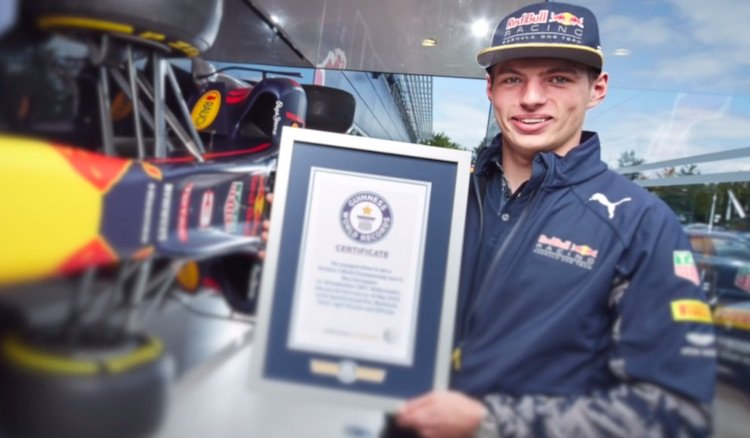 Max Verstappen Guinness Book of Records