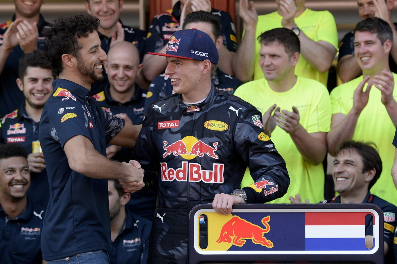 Ricciardo en Verstappen