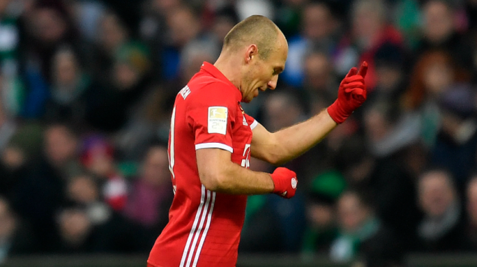 Robben 0-1 tegen Werder Bremen