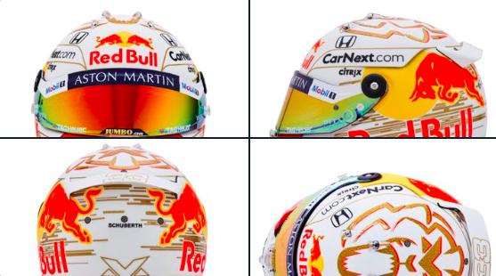 nieuwe helm max verstappen